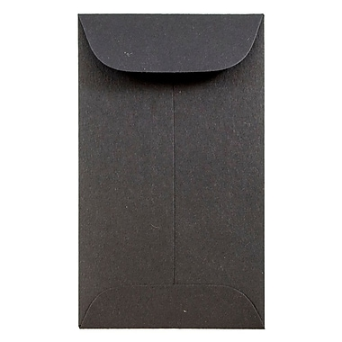 JAM Paper® #3 Coin Envelopes, 2.5 x 4.25, Black, 50/pack (356730544i)