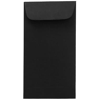 JAM Paper® #7 Coin Envelopes, 3.5 x 6.5, Black, #7 coin, 3 1/2 x 6 1/2, 50/pack (351027549i)