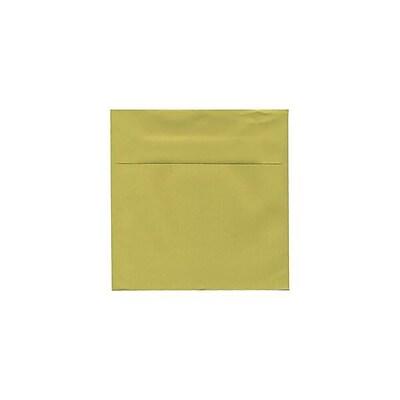 JAM Paper® 5.5 x 5.5 Square Envelopes, Chartreuse, 25/pack (EXBA509)
