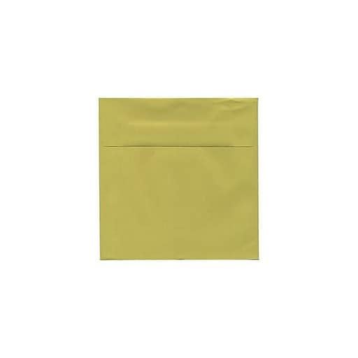JAM Paper® 5.5 x 5.5 Square Invitation Envelopes, Chartreuse Green, 25/Pack (EXBA509)