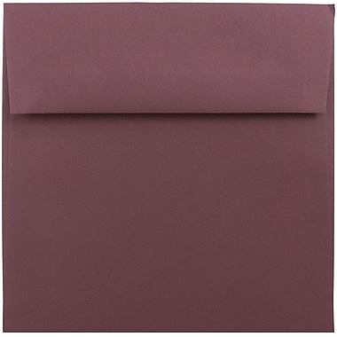 JAM Paper® 5.5 x 5.5 Square Envelopes, Burgundy, 1000/carton (36397337b)