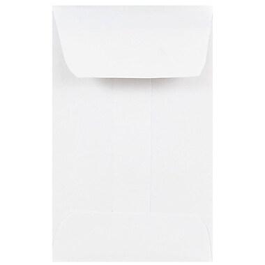 JAM Paper® #1 Coin Envelopes, 2.25 x 3.5, White, 25/pack (122326658a)