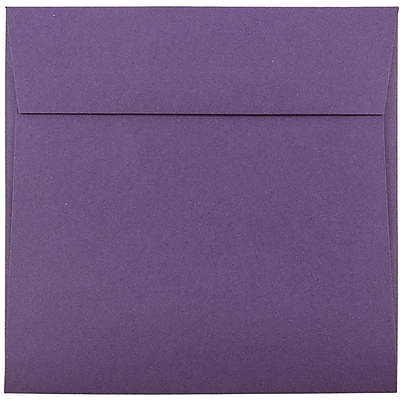 JAM Paper® 6.5 x 6.5 Square Envelopes, Dark Purple, 1000/carton (363912725b)