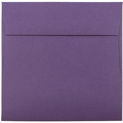 JAM Paper® 6.5 x 6.5 Square Invitation Envelopes, Dark Purple, Bulk 1000/Carton (363912725b)