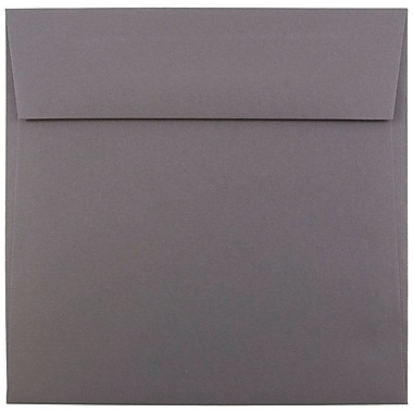JAM Paper® 6.5 x 6.5 Square Envelopes, Dark Grey, 1000/carton (263917200b)