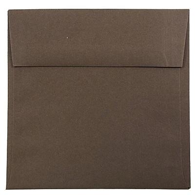 JAM Paper® 6.5 x 6.5 Square Envelopes, Chocolate Brown, 1000/carton (227912746b)