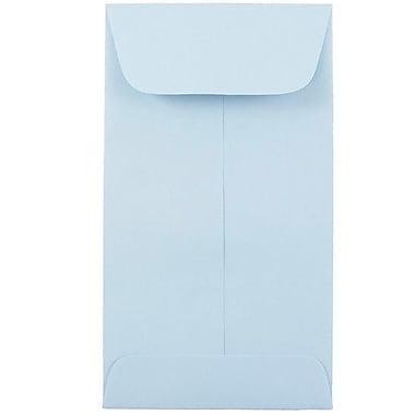 JAM Paper® #6 Coin Envelopes, 3 3/8 x 6, Baby Blue, 50/pack (356730563i)