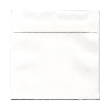 JAM Paper® 8 x 8 Square Envelopes, White Carnival Groove, 25/pack (5944371)