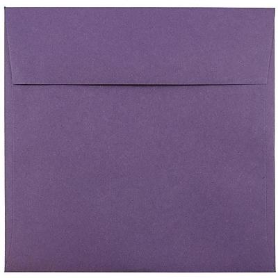 JAM Paper® 7.5 x 7.5 Square Envelopes, Dark Purple, 25/pack (263919267)