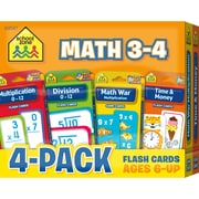 School Zone Math 3 4 Flash Card 4 Pack (SZP04047)
