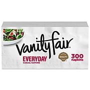 Vanity Fair Everyday Luncheon Napkins, 2-Ply, White, 2400/Carton (35503/14CT)
