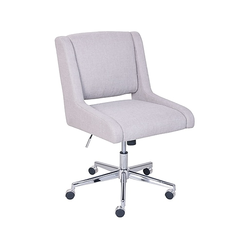 Broyhill Lynx Fabric Executive Office Chair Armless Oatmeal Color 46436 Staples