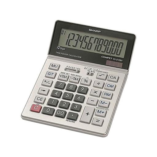 Sharp Compet VX-2128V 12-Digit Desktop Calculator, Silver