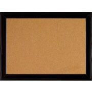 Quartet Cork Bulletin Board, Black Frame, 23'' x 17'' (79281)