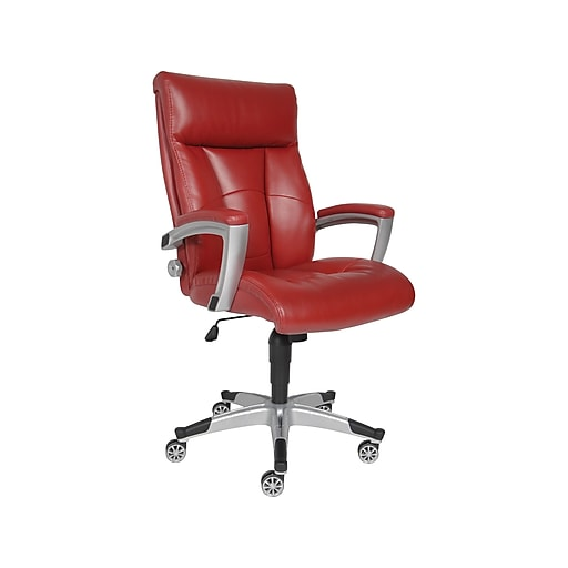 online retailer a8057 e4158 Sealy Roma Leather Executive Chair, Red (9843G)