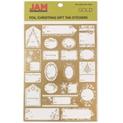 JAM Paper® Christmas Gift Tag To From Holiday Stickers, Gold Matte Foil, 40/Pack (249732356)