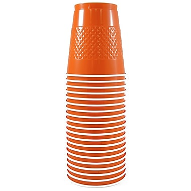 JAM Paper® Plastic Cups, 12 oz, Orange, 200/box (2255520706b)