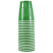 JAM Paper® Plastic Cups, 12 oz, Green, 200/box (255528205b)