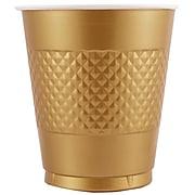 JAM Paper® Bulk Plastic Party Cups, 12 oz, Gold, 200 Glasses/Box (255525363b)