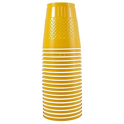 JAM Paper® Plastic Cups, 12 oz, Yellow, 200/box (255523919b)