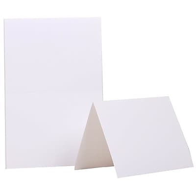 JAM Paper® Fold over Cards, A2 size, 4 3/8 x 5 7/16, White, 25/pack (309910f)