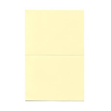 JAM Paper® Foldover Cards, A2 size, 4 3/8 x 5 7/16, Ivory, 25/pack (309908f)