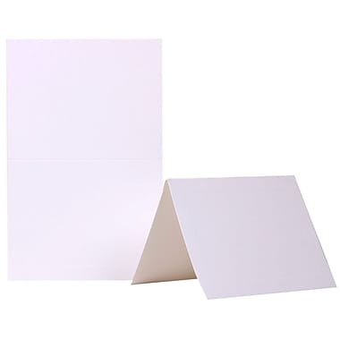JAM Paper® Foldover Cards, A2 size, 4 3/8 x 5 7/16, White Panel, 25/pack (309915f)