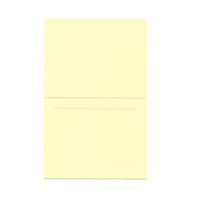 JAM Paper® Fold over Cards, A2 size, 4 3/8 x 5 7/16, Ivory Panel, 25/pack (309914f)
