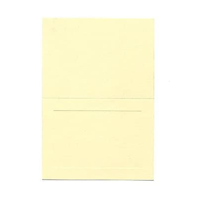 JAM Paper® Fold over Cards, 4bar size, 3 1/2 x 4 7/8, Ivory Panel, 25/pack (309898f)