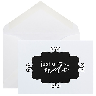 JAM Paper® Thank You Cards Set, Just a Note, Black Banner, 10/pack (D41115NBKMB)