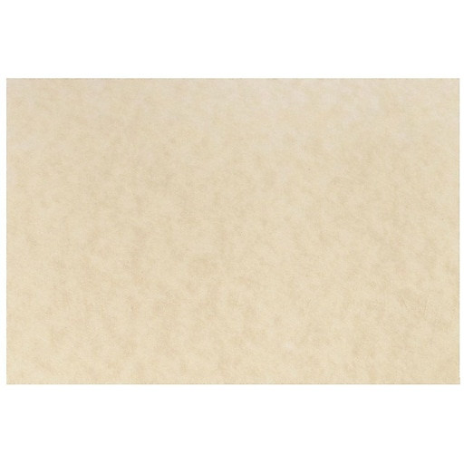 JAM Paper® Blank Flat Note Cards, A6 Size, 4 5/8 x 6 1/4, Natural Parchment, 100/Pack (17531640b)