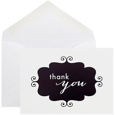 JAM Paper® Thank You Cards Set, Black Banner, 10/pack (D41115TYBKMB)