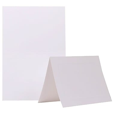 JAM Paper® Foldover Cards, A7 size, 5 x 6 5/8, White Panel, 500 per pack (309945b)