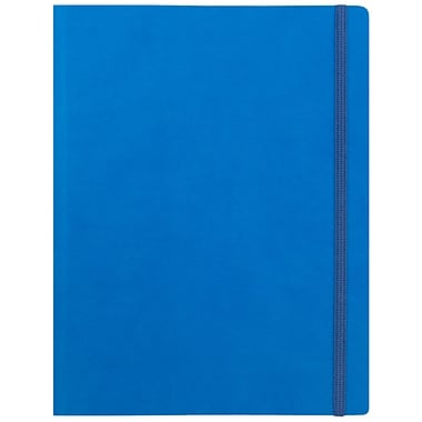 JAM Paper® Premium Soft Touch Journal, Large, 7 x 9, Blue, Sold Individually (325Sl7x9bu)