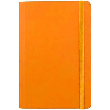 JAM Paper® Premium Soft Touch Journal, Travel Size, 4 x 6, Orange, Sold Individually (325Sl4x6or)