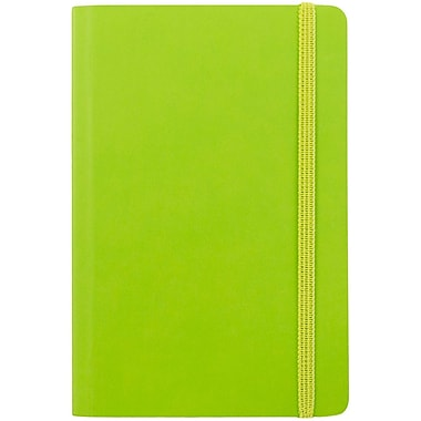 JAM Paper® Premium Soft Touch Journal, Travel Size, 4 x 6, Lime Green, Sold Individually (325Sl4x6lg)