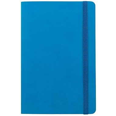 JAM Paper® Premium Soft Touch Journal, Travel Size, 4 x 6, Blue, Sold Individually (325Sl4x6bu)