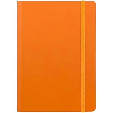 JAM Paper® Premium Soft Touch Journal, Medium, 5 x 7, Orange, Sold Individually (325Sl5x7or)