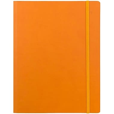 JAM Paper® Premium Soft Touch Journal, Large, 7 x 9, Orange, Sold Individually (325Sl7x9or)