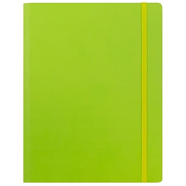 JAM Paper® Premium Soft Touch Journal, Large, 7 x 9, Lime Green, Sold Individually (325Sl7x9lg)