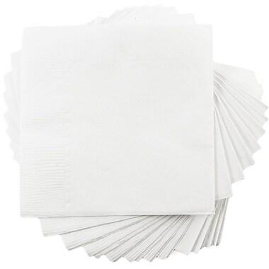JAM Paper® Beverage Napkins, Small, 5x5, White, 600/box (5255620731b)