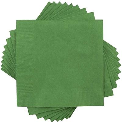 JAM Paper® Square Lunch Napkins, Medium, 6.5x6.5, Green, 600/box (255628201b)