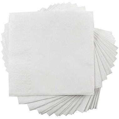 JAM Paper® Square Lunch Napkins, Medium, 6.5x6.5, White, 600/box (6255620732b)