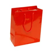 JAM Paper® Glossy Gift Bags, Medium, 8 x 4 x 10, Red, 6/pack (672GLrea)