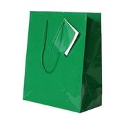 JAM Paper® Glossy Gift Bags, Medium, 8 x 4 x 10, Green, 6/pack (672GLgra)