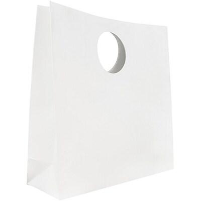 JAM Paper® Heavy Duty Die Cut Gift Bags, Medium, 12 x 12 x 4, White, 3/pack (892DCwha)