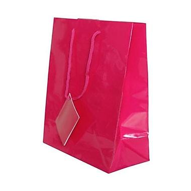 JAM Paper® Glossy Gift Bags, Medium, 8 x 4 x 10, Fuchsia Hot Pink, 6/pack (672GLfua)