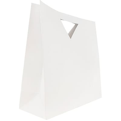JAM Paper® Heavy Duty Die Cut Gift Bags, Large, 15 x 5 1/2 x 15, White, 3/pack (895DCwha)