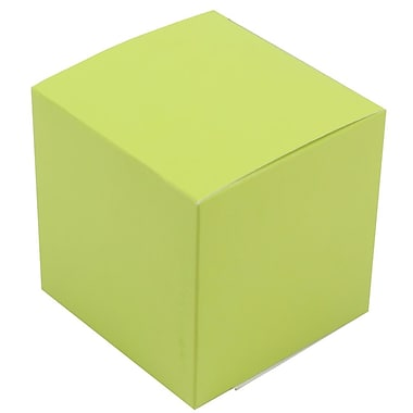JAM Paper® Glossy Gift Boxes, Small, 3.5 x 3.5 x 3.5, Lime Green,10/pack (2238319102b)