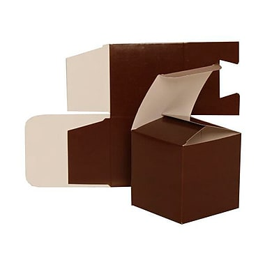 JAM Paper® Glossy Gift Boxes, Small, 3.5 x 3.5 x 3.5, Brown,10/pack (2238319100b)